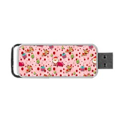Red Christmas Pattern Portable USB Flash (One Side)