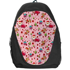 Red Christmas Pattern Backpack Bag