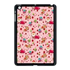 Red Christmas Pattern Apple iPad Mini Case (Black)