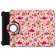 Red Christmas Pattern Kindle Fire HD Flip 360 Case