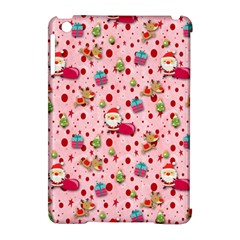 Red Christmas Pattern Apple iPad Mini Hardshell Case (Compatible with Smart Cover)