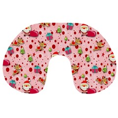 Red Christmas Pattern Travel Neck Pillows