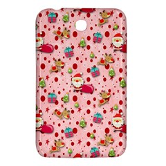 Red Christmas Pattern Samsung Galaxy Tab 3 (7 ) P3200 Hardshell Case