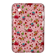 Red Christmas Pattern Samsung Galaxy Tab 2 (7 ) P3100 Hardshell Case