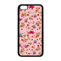 Red Christmas Pattern Apple Iphone 5c Seamless Case (black)