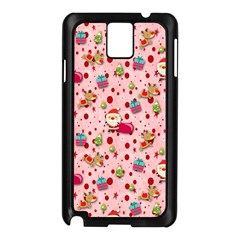 Red Christmas Pattern Samsung Galaxy Note 3 N9005 Case (Black)