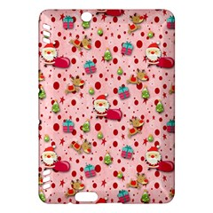 Red Christmas Pattern Kindle Fire Hdx Hardshell Case