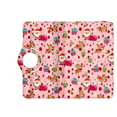 Red Christmas Pattern Kindle Fire HDX 8.9  Flip 360 Case