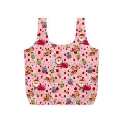 Red Christmas Pattern Full Print Recycle Bags (s)