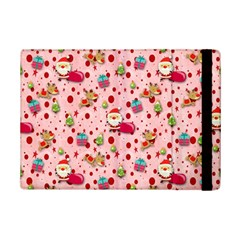 Red Christmas Pattern Ipad Mini 2 Flip Cases