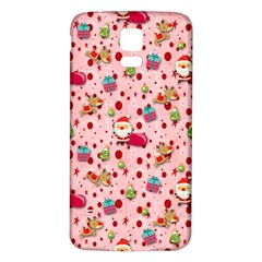 Red Christmas Pattern Samsung Galaxy S5 Back Case (White)
