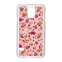 Red Christmas Pattern Samsung Galaxy S5 Case (white)