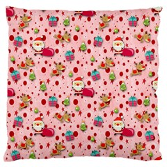 Red Christmas Pattern Large Flano Cushion Cases (One Side)