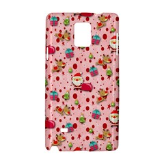 Red Christmas Pattern Samsung Galaxy Note 4 Hardshell Case