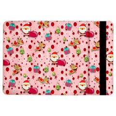 Red Christmas Pattern iPad Air 2 Flip