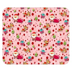 Red Christmas Pattern Double Sided Flano Blanket (Small)