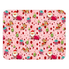 Red Christmas Pattern Double Sided Flano Blanket (Large)