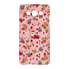 Red Christmas Pattern Samsung Galaxy A5 Hardshell Case