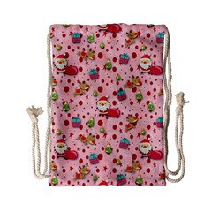 Red Christmas Pattern Drawstring Bag (Small)