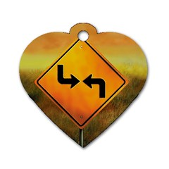 Direction Dog Tag Heart (Two Sides)