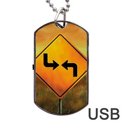 Direction Dog Tag USB Flash (One Side)