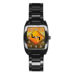 Direction Stainless Steel Barrel Watch