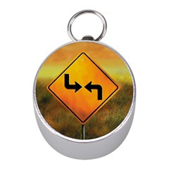 Direction Mini Silver Compasses