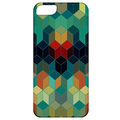 Colorful Modern Geometric Cubes Pattern Apple iPhone 5 Classic Hardshell Case