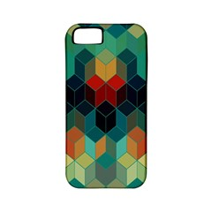 Colorful Modern Geometric Cubes Pattern Apple iPhone 5 Classic Hardshell Case (PC+Silicone)