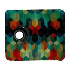 Colorful Modern Geometric Cubes Pattern Samsung Galaxy S  III Flip 360 Case