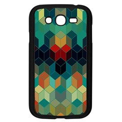 Colorful Modern Geometric Cubes Pattern Samsung Galaxy Grand DUOS I9082 Case (Black)