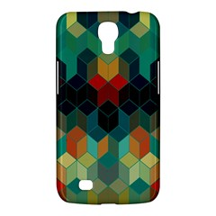 Colorful Modern Geometric Cubes Pattern Samsung Galaxy Mega 6.3  I9200 Hardshell Case