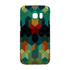 Colorful Modern Geometric Cubes Pattern Galaxy S6 Edge