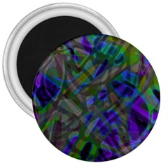 Colorful Abstract Stained Glass G301 3  Magnets