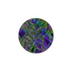 Colorful Abstract Stained Glass G301 Golf Ball Marker (4 pack)