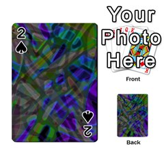 Colorful Abstract Stained Glass G301 Playing Cards 54 Designs