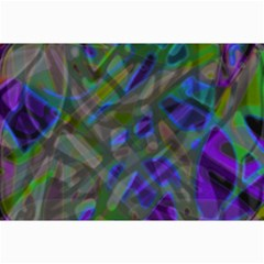 Colorful Abstract Stained Glass G301 Collage 12  X 18