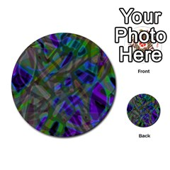 Colorful Abstract Stained Glass G301 Multi-purpose Cards (Round)