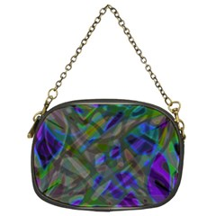 Colorful Abstract Stained Glass G301 Chain Purses (Two Sides)