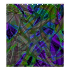 Colorful Abstract Stained Glass G301 Shower Curtain 66  x 72  (Large)