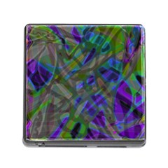 Colorful Abstract Stained Glass G301 Memory Card Reader (Square)