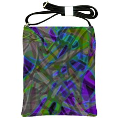 Colorful Abstract Stained Glass G301 Shoulder Sling Bags