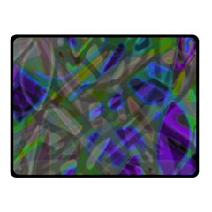 Colorful Abstract Stained Glass G301 Fleece Blanket (small)