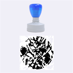 Colorful Abstract Stained Glass G301 Rubber Round Stamps (Medium)