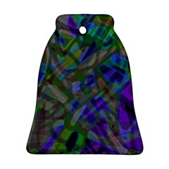 Colorful Abstract Stained Glass G301 Ornament (Bell)
