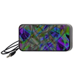 Colorful Abstract Stained Glass G301 Portable Speaker (Black)