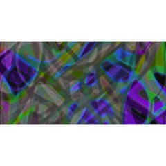 Colorful Abstract Stained Glass G301 YOU ARE INVITED 3D Greeting Card (8x4)