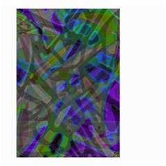 Colorful Abstract Stained Glass G301 Small Garden Flag (Two Sides)