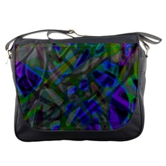 Colorful Abstract Stained Glass G301 Messenger Bags