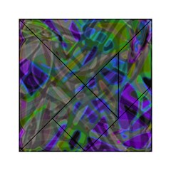 Colorful Abstract Stained Glass G301 Acrylic Tangram Puzzle (6  x 6 )